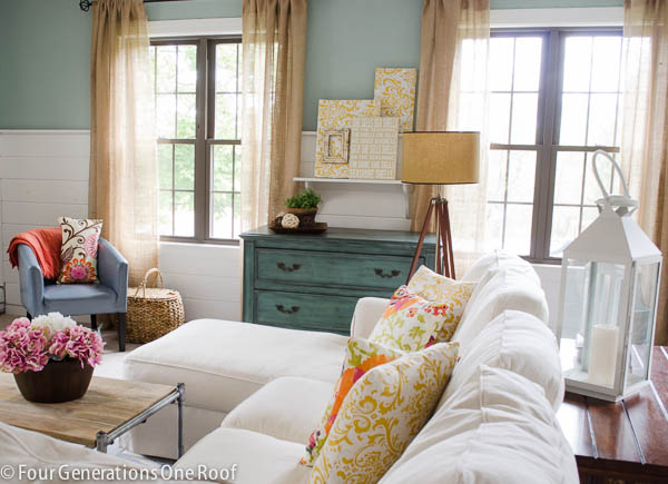 This Room By Four Generations One Roof Features A Grey:green And Yellow  Colour Palette Part 53