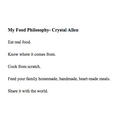 Crystal Allen Hello Creative Family Food Philosophy
