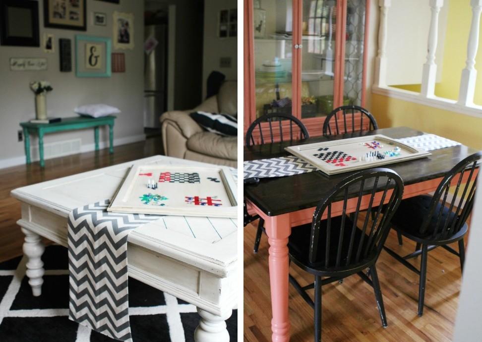 DIY Gift Idea Upcycled Cabinet Door Board Game