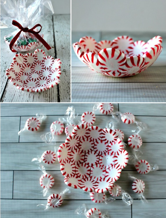 DIY Peppermint Candy Bowl