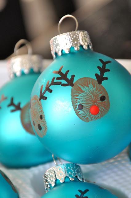Fingerprint Rudolph Ornament
