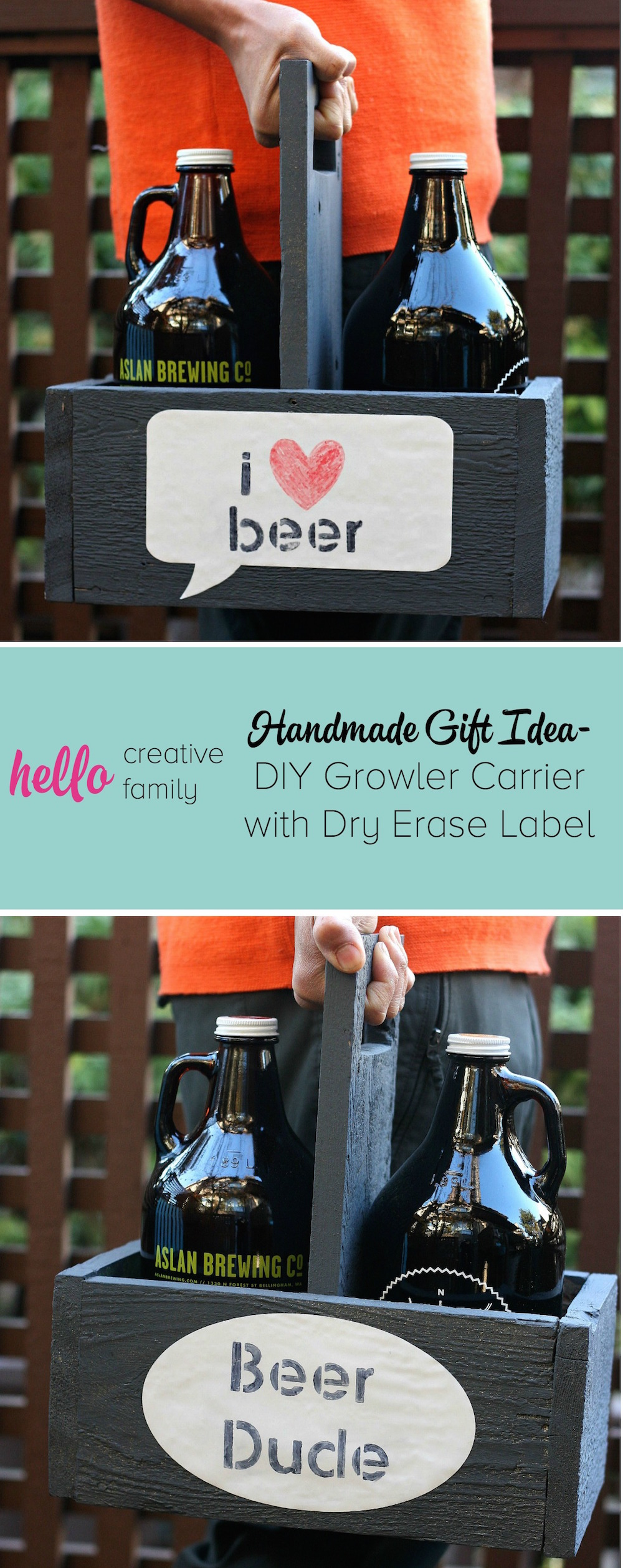 DIY Growler Carrier | Homemade Christmas Gifts Men Will Actually Love