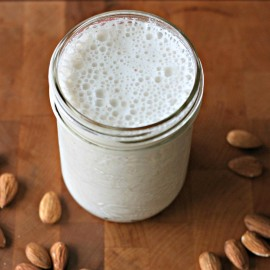 Have you ever noticed the other ingredients in almond milk. In this Back To Basics post we share our 3 ingredient how to make homemade almond milk recipe.