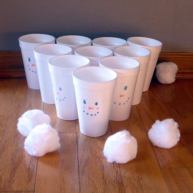 Indoor Snowball Toss