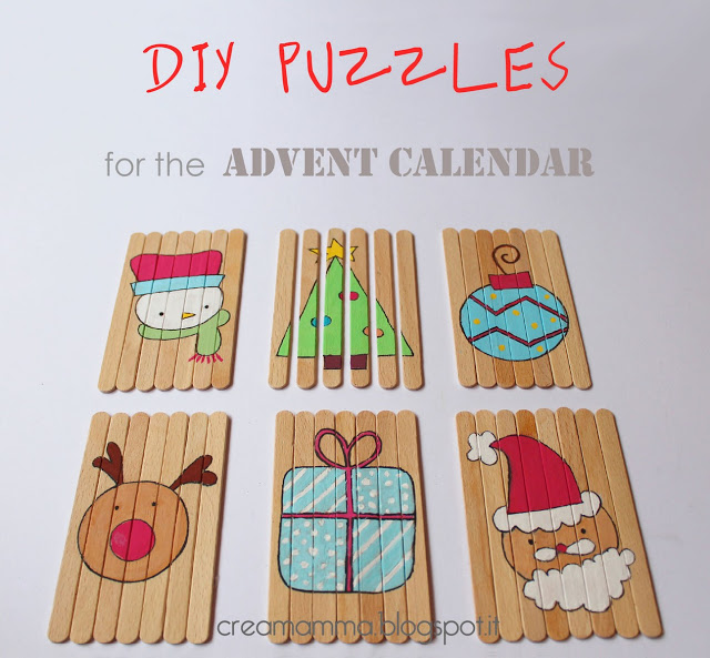 Popsicle Stick Christmas Puzzles