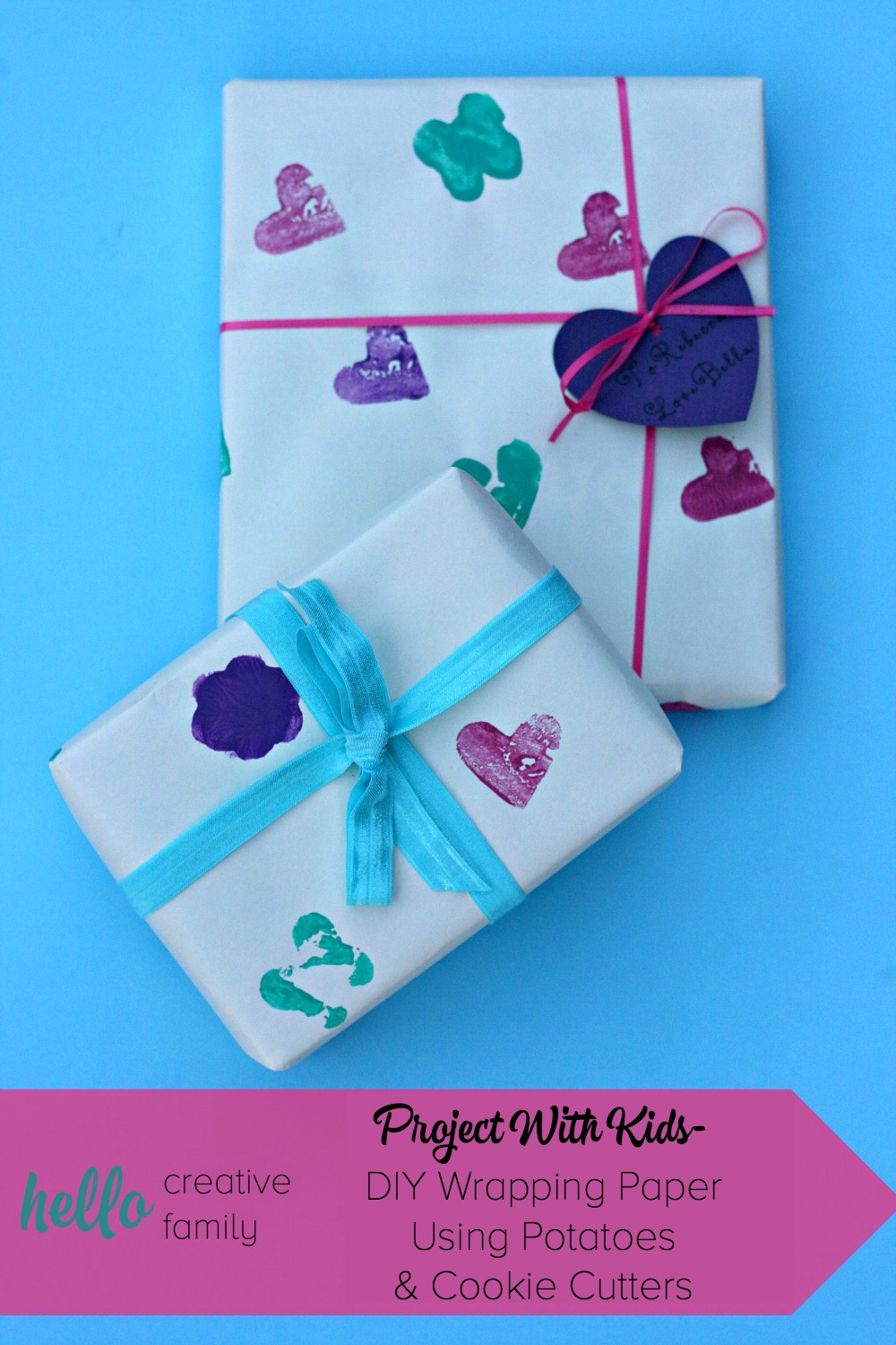 Project With Kids Diy Wrapping Paper Using Potatoes And
