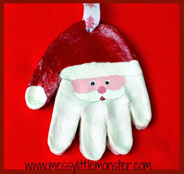 Santa Handprint Ornament