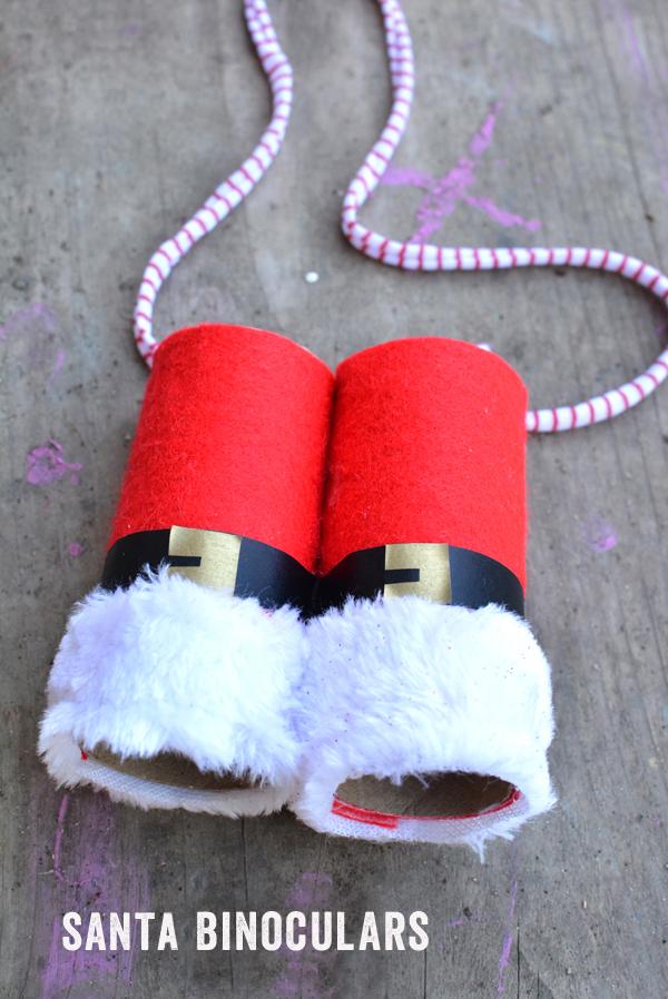 Toilet Paper Roll Santa Binoculars