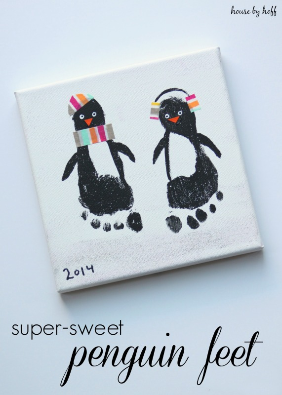 Washi Tape Penguin Feet