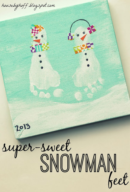 Washi Tape snowman feet