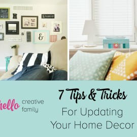 Want to breath some new life into your home? Check out these 7 budget friendly tips and tricks for updating home decor!