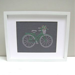 Bicycle Embroidering Kit - I Heart Stitch Art featured on HelloCreativeFamily.com