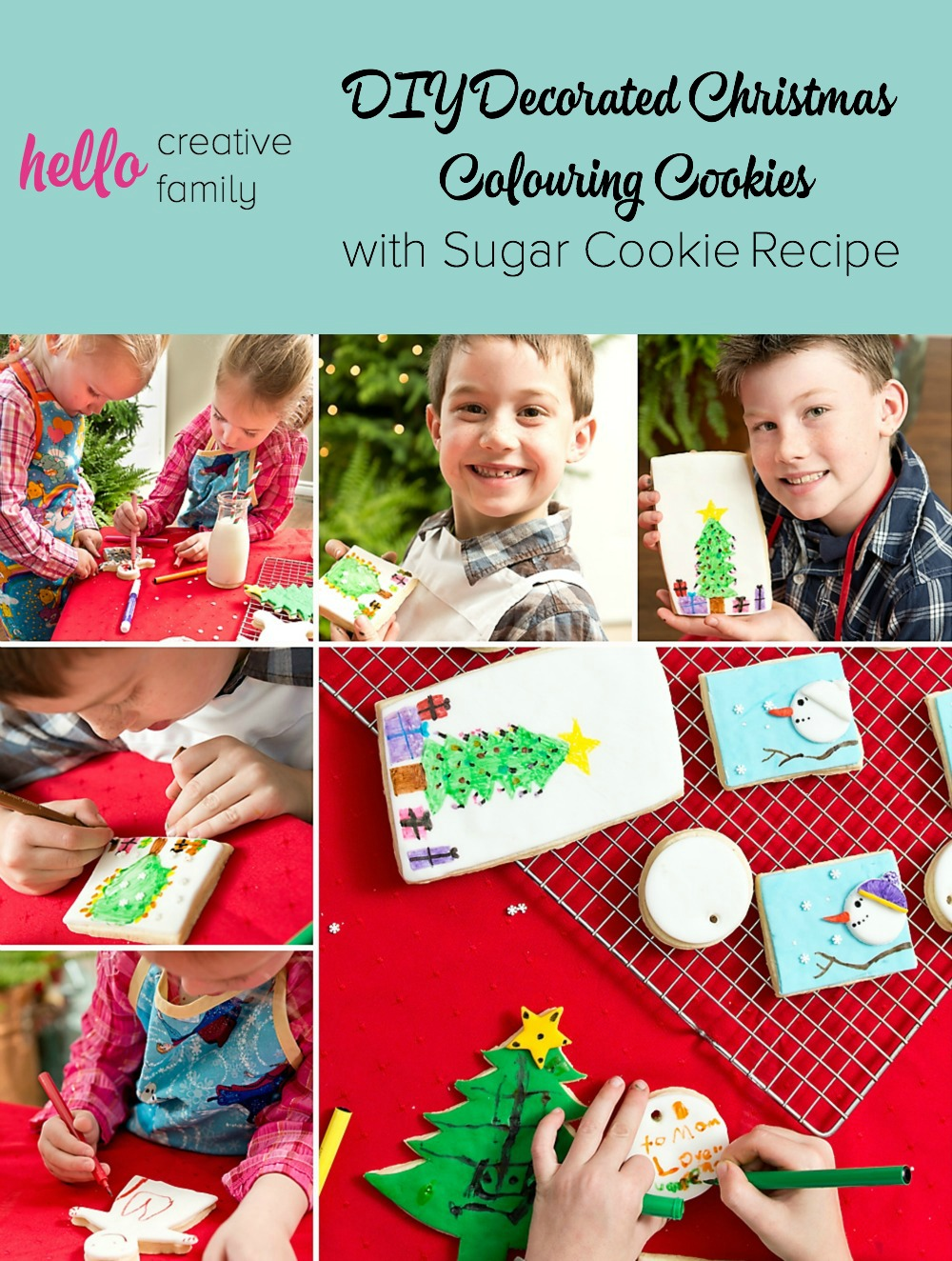 DIY Decorated Christmas Colouring Cookies with Sugar Cookie Recipe