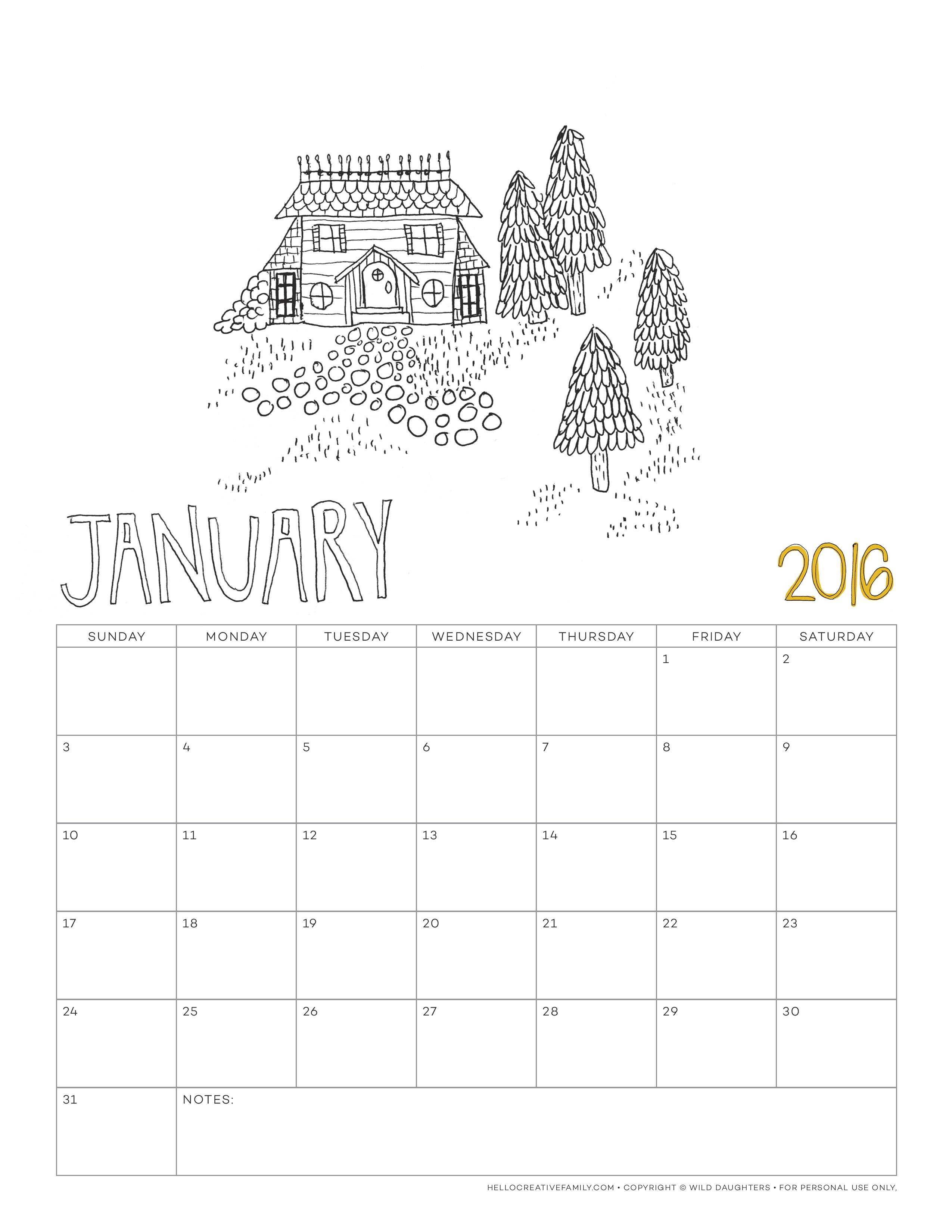 download the month of january
