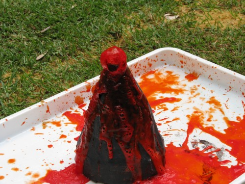 Build a volcano! Another way to keep busy over the holidays