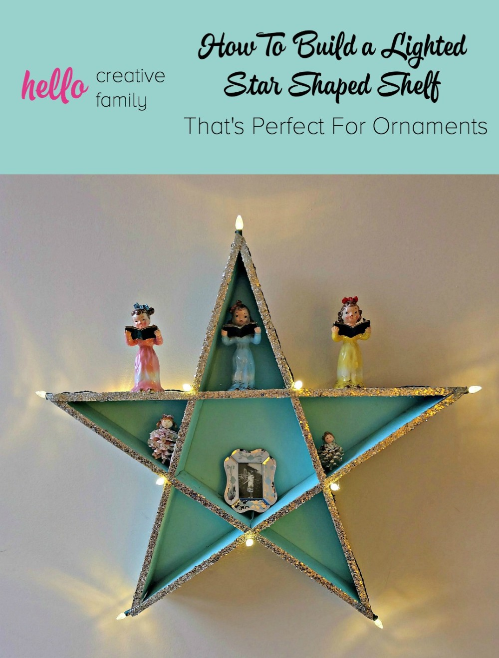 How To Build a Lighted DIY Star Shaped Shelf That's Perfect For Ornaments