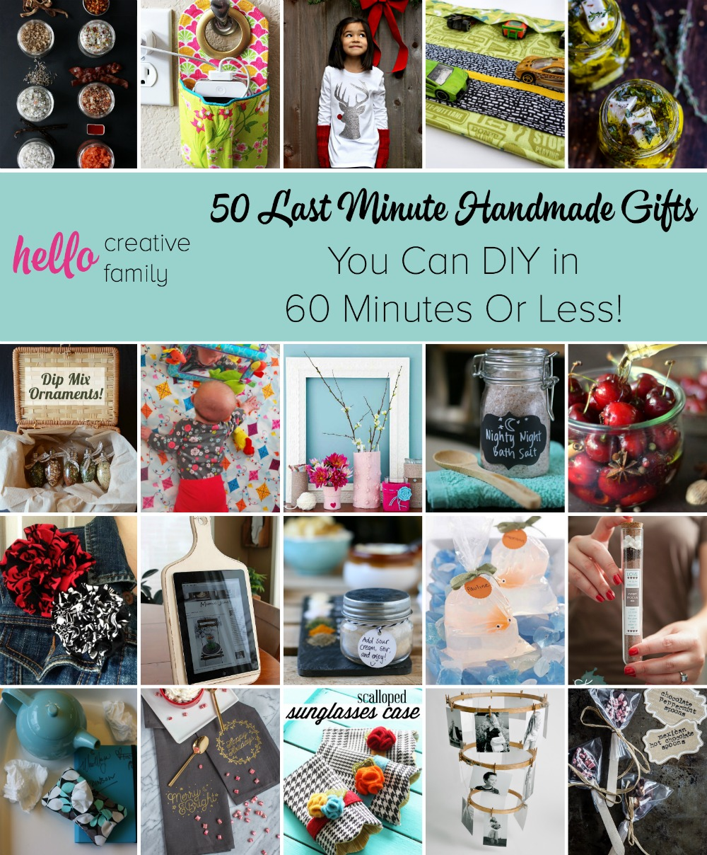 Stuck for a last minute gift? Here are 50 Last Minute Handmade Gifts you can