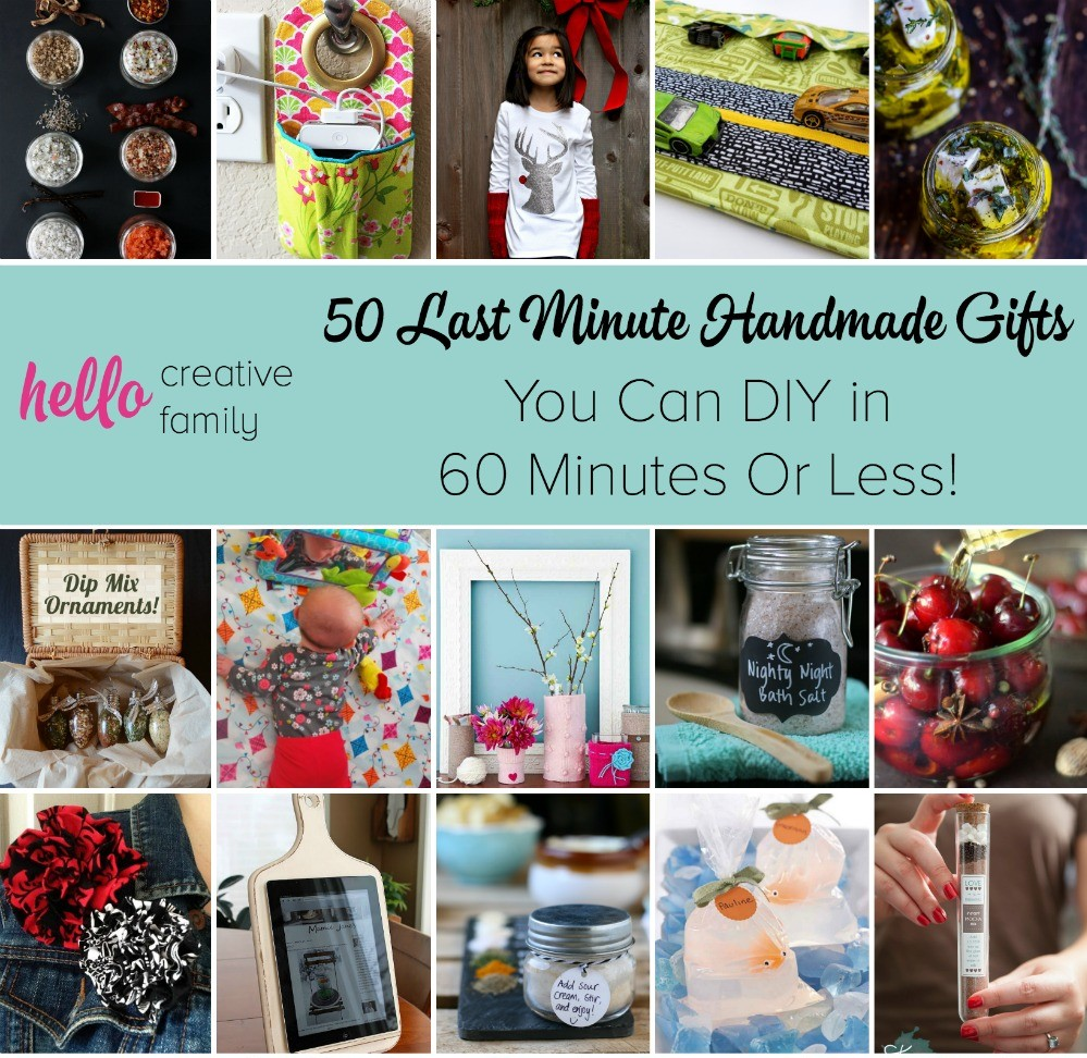 50+ Last Minute Handmade Gifts You Can DIY in 60 Minutes Or Less! - Hello Creative Family