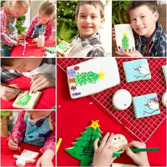 DIY Decorated Christmas Coloring Cookies with Sugar Cookie Recipe