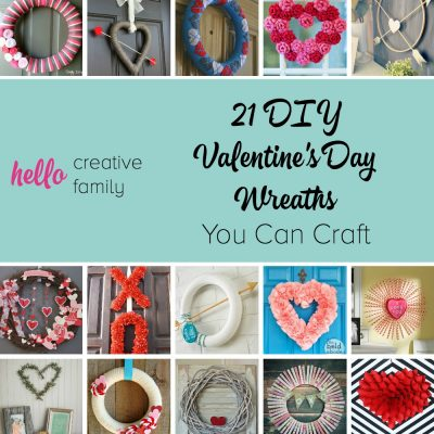 Such great Valentine's Day decor inspiration here! 21 DIY Valentine's Day Wreaths You Can Craft