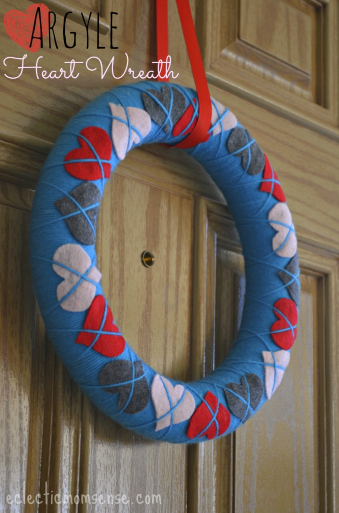 Argyle Heart Wreath from Eclectic Momsence