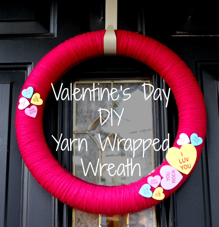 Conversation Heart Valentine's Day Wreath from Mohans Rule
