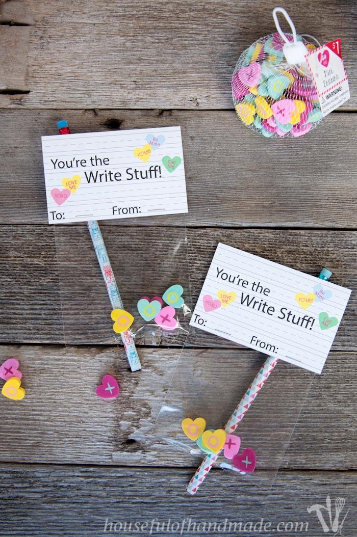 Conversation Heart Writing Set From Houseful of Handmade