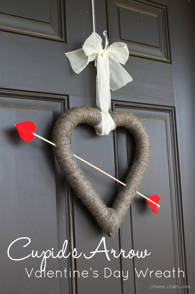 Cupid's Arrow Valentine's Day Wreath from Create Craft Love