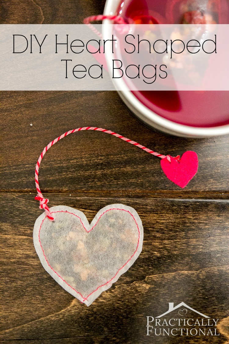 DIY Heart Shaped Tea Bags from Practically Functional
