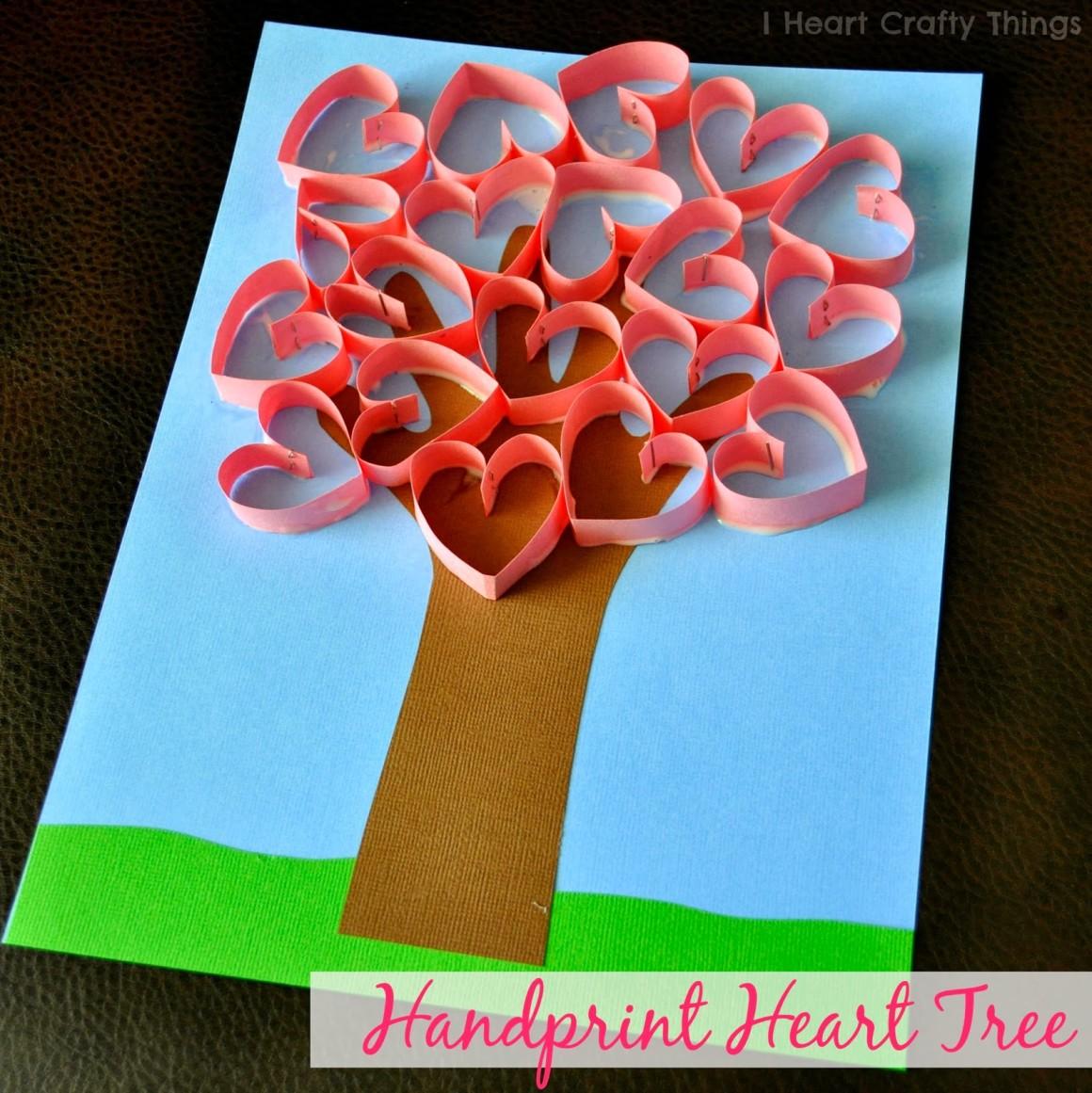 Handprint Heart Tree from I Heart Crafty Things