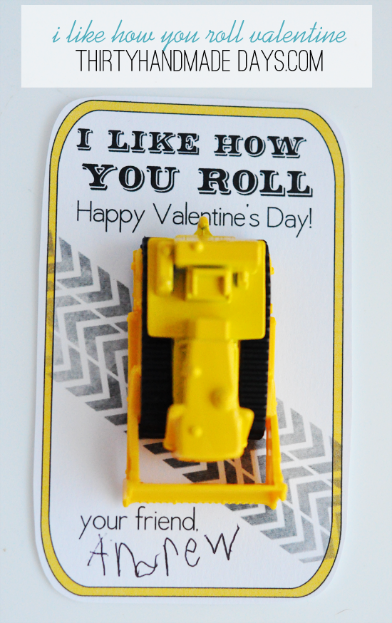 I Like How You Roll Valentine from Thirty Handmade Days