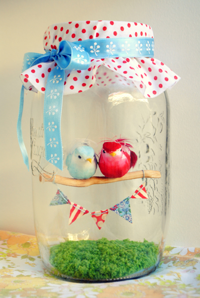 Love Birds Valentine's Day Terrarium from House of Humble