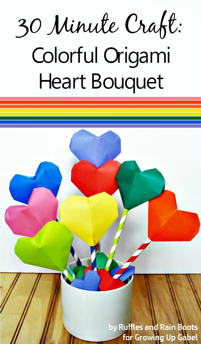 Origami Heart Bouquet from Growing Up Gabel