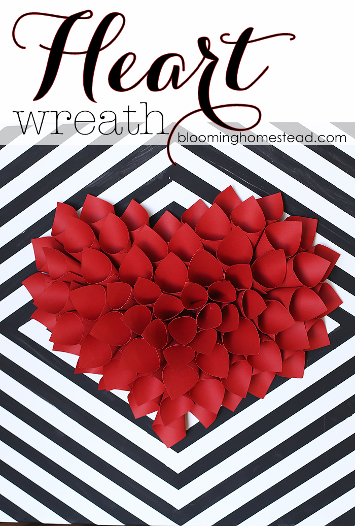 Paper Heart Wreath from The Blooming Homestead