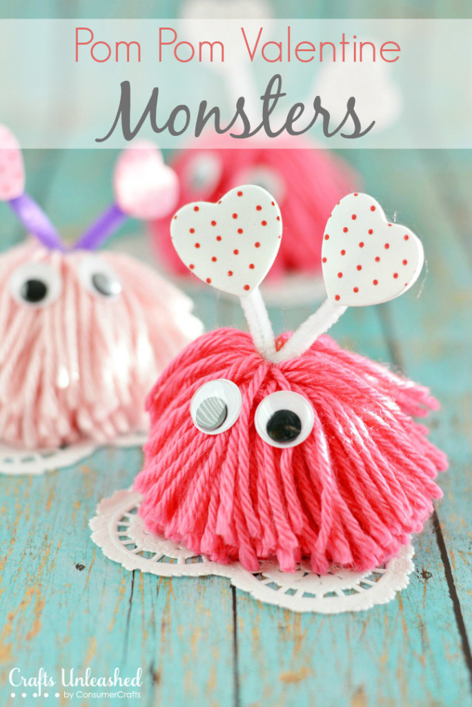 Pom Pom Love Bug from Crafts Unleashed