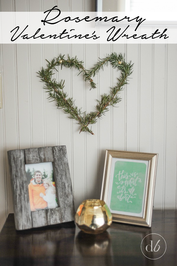 Rosemary Heart Shaped Wreath from Making It In The Mountains