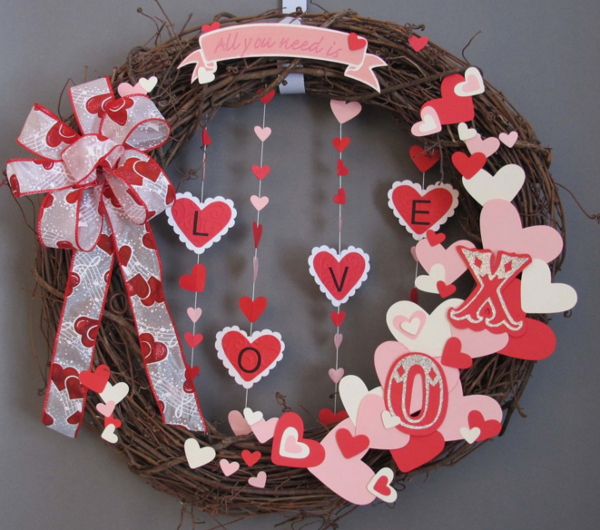 Grapevine Love Wreath from My Watermelon Moon