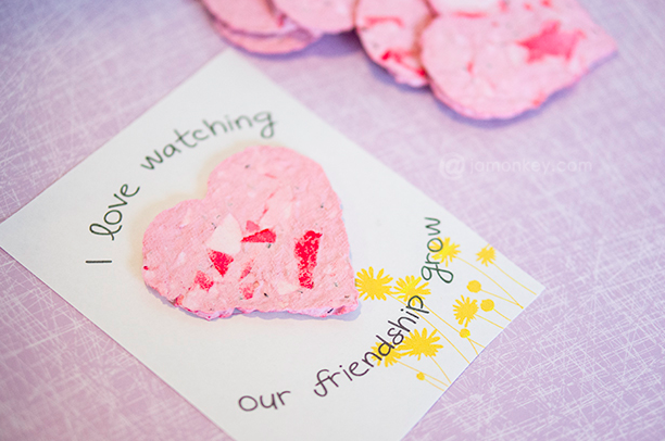 Seed Paper Valentine from JaMonkey