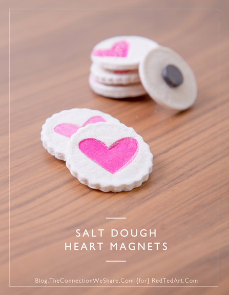 Salt Dough Heart Magnets from Red Ted Art