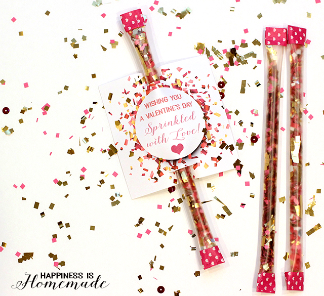 Sprinkled With Love Confetti Valentine from Happiness is Homemade