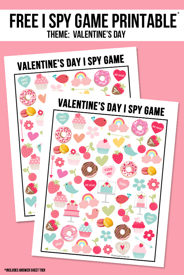Valentine's Day I Spy Printable