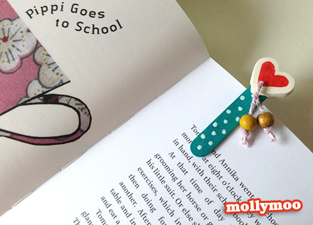 Valentine's Day Popsicle Bookmark from Molly Moo