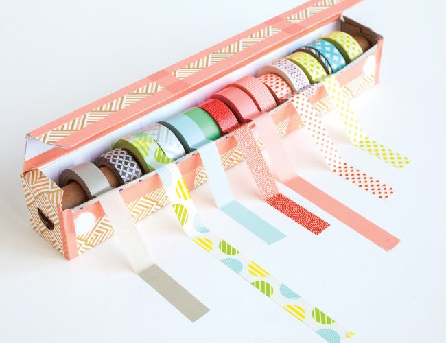 Easy DIY Washi Tape Dispenser Project from Washi Tape Crafts by Amy Anderson