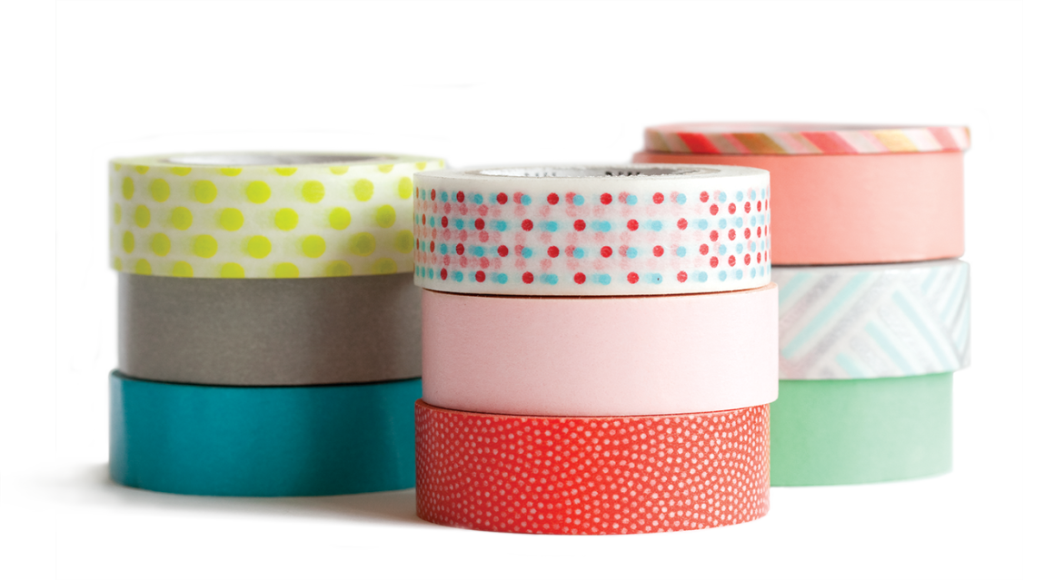 Easy diy washi tape dispenser project from washi tape for Crafts with washi tape