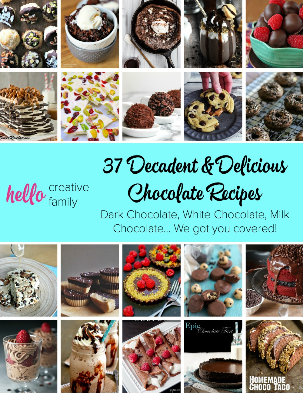 Chocolate is my guilty addiction. I eat, sleep and breath chocolate. This post has so many great chocolate recipes including milkshakes, cocktails, cakes, cookies, ice cream and donuts! Whether your a fan of milk chocolate, dark chocolate or white chocolate there will be chocolate recipes for you in this post! I'll be making #29 this weekend!