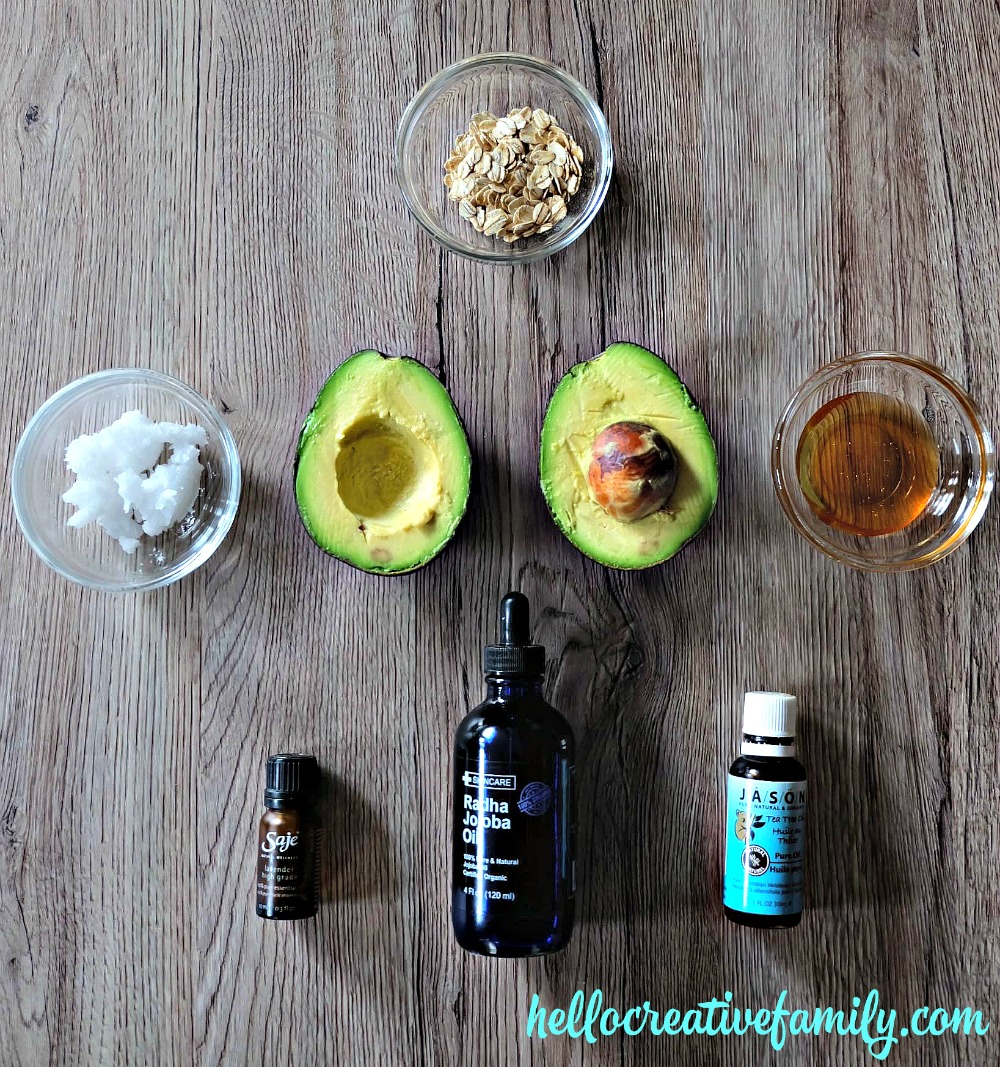 Avocado, Honey and Oatmeal Hydrating Face Mask ingredients