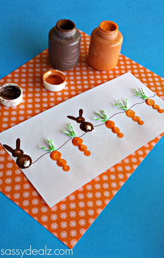 Carrot Patch Finger Painting from Sassy Dealz