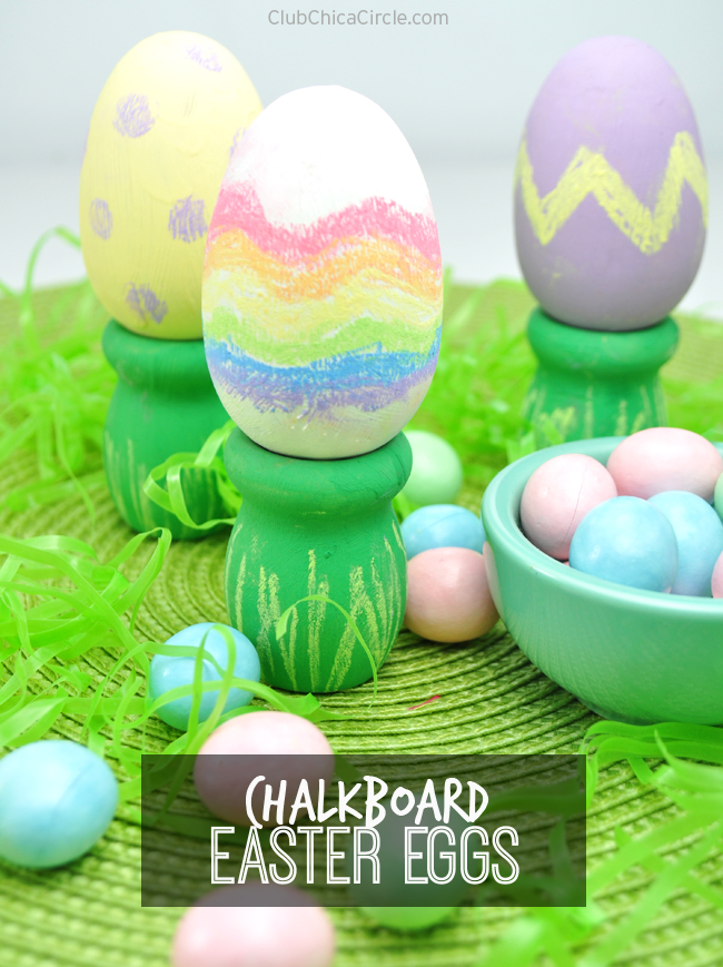 Chalkboard Easter Eggs from Club Chica Circle