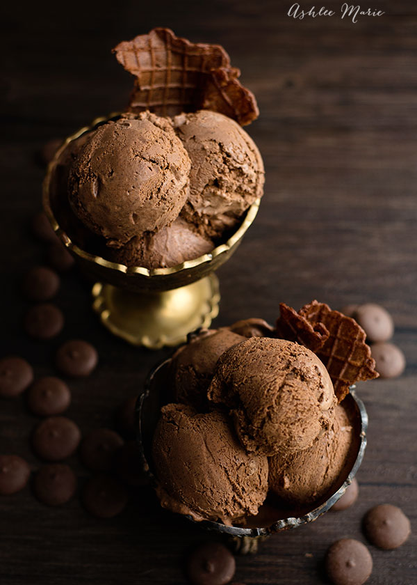 Chocolate Ganache Ice Cream Recipe from Ashlee Marie