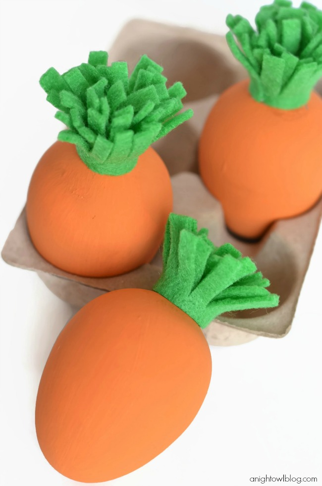 DIY Carrot Easter Eggs from A Night Owl Blog